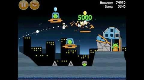 Angry Birds Danger Above 7-14 Walkthrough 3 Star