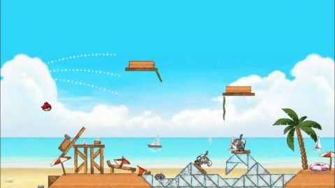 Official Angry Birds Rio Walkthrough Beach Volley 5-10