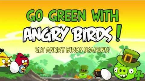 Angry birds seasons Go green, get lucky theme song
