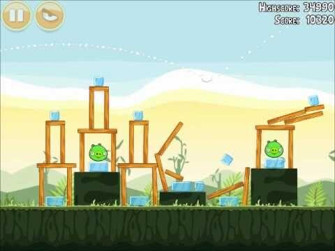 Official Angry Birds Walkthrough Poached Eggs 2-17