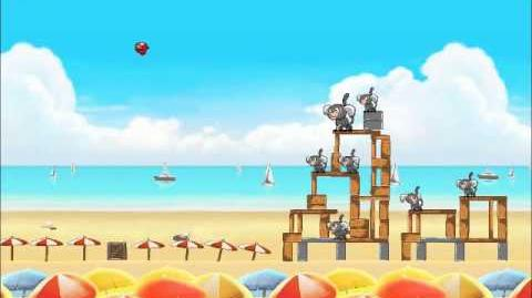 Official Angry Birds Rio Walkthrough Beach Volley 6-12