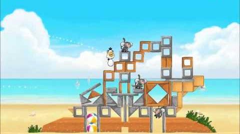 Official Angry Birds Rio Walkthrough Beach Volley 6-5