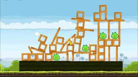 Official Angry Birds Walkthrough Mighty Hoax 4-12
