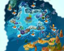 Коралловый риф на карте
