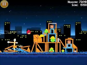 Official Angry Birds Walkthrough The Big Setup 11-10