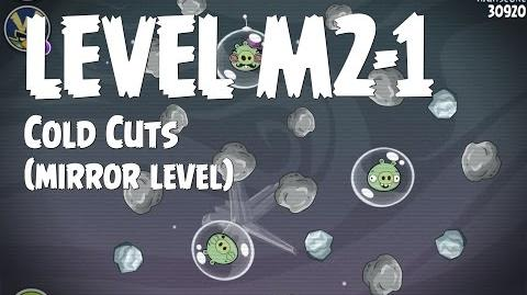 Angry Birds Space Cold Cuts Level M2-1 Mirror World Walkthrough 3 Star