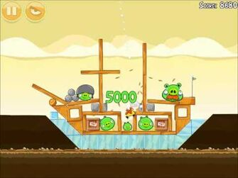 Official Angry Birds Walkthrough Mighty Hoax 5-8