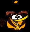 Космическая оранжевая птица