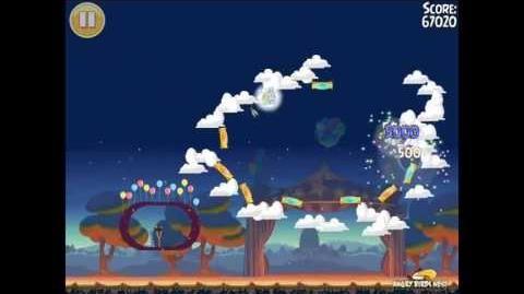 Angry Birds Seasons Abra-ca-Bacon Golden Egg 44 Walkthrough