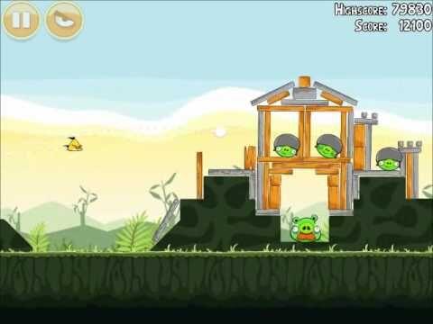 Official Angry Birds Walkthrough Poached Eggs 2-21