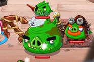 Большой пират на уровне