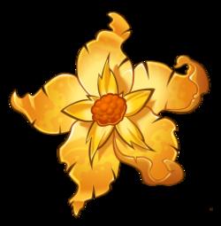 Гигантский золотой цветок