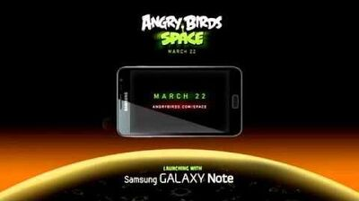 Angry Birds Space - on Samsung's Galaxy