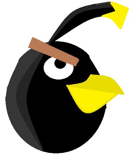 Bomb z Angry Birds Narysowany przez Night Furia dla Bomb Bird