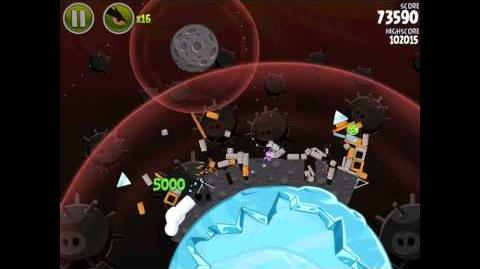 Angry Birds Space Danger Zone Level 2 Walkthrough 3 Star