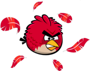 RED MIGHTY FEATHERS ANGRY RED