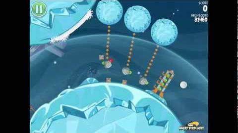 Angry Birds Space S-6 Cold Cuts Bonus Level Walkthrough