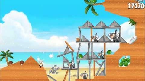 Official Angry Birds Rio Walkthrough Beach Volley 5-13
