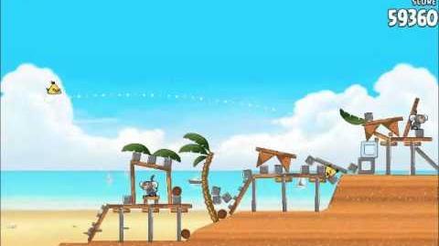 Official Angry Birds Rio Walkthrough Beach Volley 5-6