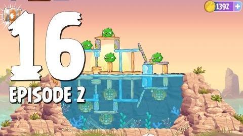 Angry Birds Stella Level 16 Episode 2 Beach Day Walkthrough