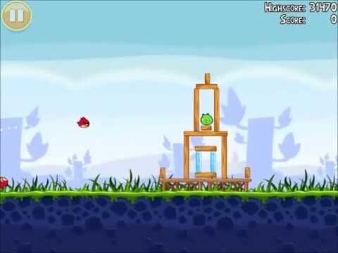 Official Angry Birds Walkthrough Poached Eggs 1-1