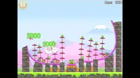 "Angry Birds Seasons Cherry Blossom Golden Egg 32 Walkthrough 2012 ""Big Fan"""