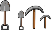 Лопаты и кирки