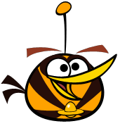 Orange bird space