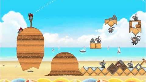 Official Angry Birds Rio Walkthrough Beach Volley 6-13