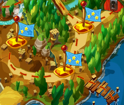 Квадратный лес на карте