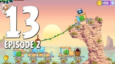 Angry Birds Stella Level 13 Episode 2 Beach Day Walkthrough