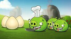 Свинья повар и яйца