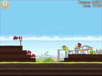 Official Angry Birds Walkthrough The Big Setup 10-11