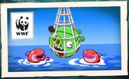 Свин-пират по завершении уровня (пойман в сети) 2