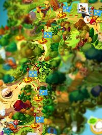 Рогаточные леса на карте