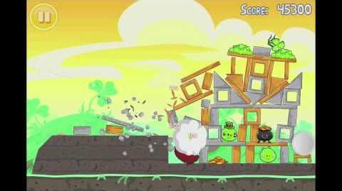 Angry Birds Seasons Go Green, Get Lucky 3 Star Walkthrough Level 2