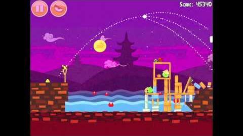 Angry Birds Seasons Mooncake Festival 1-1 Walkthrough 3 Star