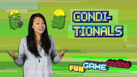 Angry Birds Fun Game Coding - Conditionals - S1 Ep3