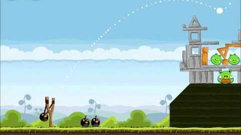 Official Angry Birds Walkthrough Mighty Hoax 4-18