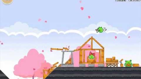 Official Angry Birds Seasons Walkthrough Hogs and Kisses 1-9