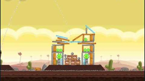 Angry Birds Chrome 3-5 3-Star Walkthrough Poached Eggs Level 3-5