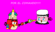 Red y Stella por el comando (angry birds fight)