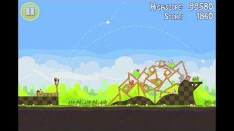 Angry Birds Seasons Easter Eggs Golden Egg 15 Walkthrough