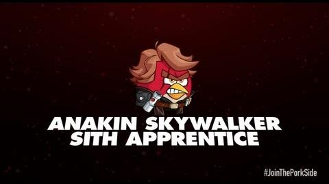 Angry Birds Star Wars 2 character reveals Anakin Skywalker Sith Apprentice