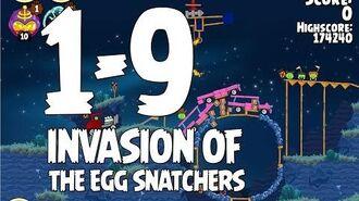 Angry Birds Seasons Invasion of the Egg Snatchers 1-9 Walkthrough 3 Star