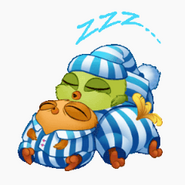 ABM Stickers - Three Sleeping Hatchlings