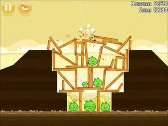 Official Angry Birds Walkthrough Mighty Hoax 5-17