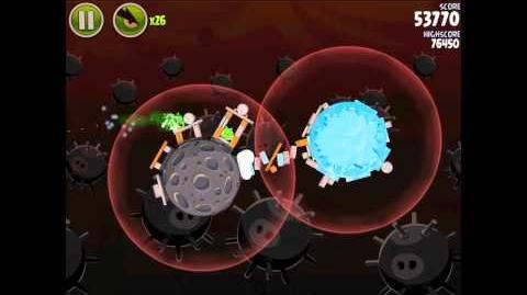 Angry Birds Space Danger Zone Level 17 Walkthrough 3 Star
