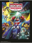 Angry Birds Transformers Comic Con poster 3