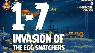 Angry Birds Seasons Invasion of the Egg Snatchers 1-7 Walkthrough 3 Star